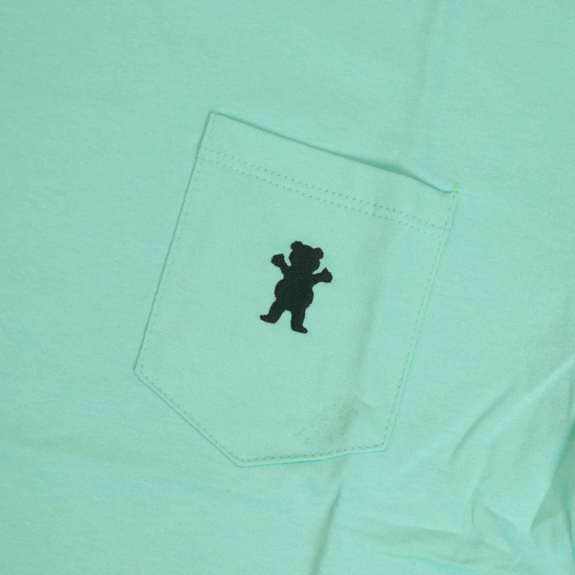 "Camiseta Grizzly ""OG Bear Embroidered Pocket"" Tiffany"