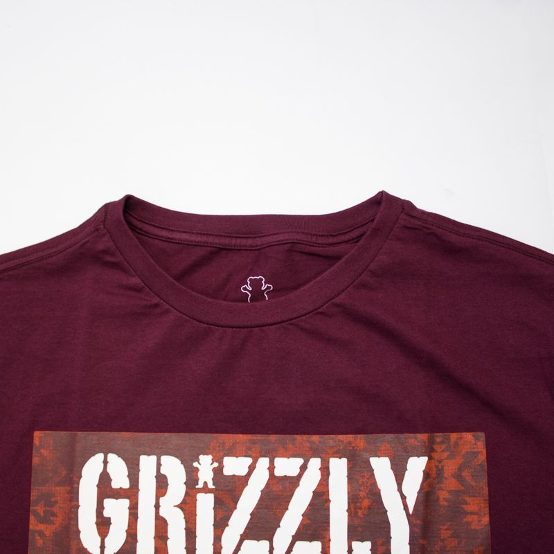 "Camiseta Grizzly ""Og Stamp"" Bordô"