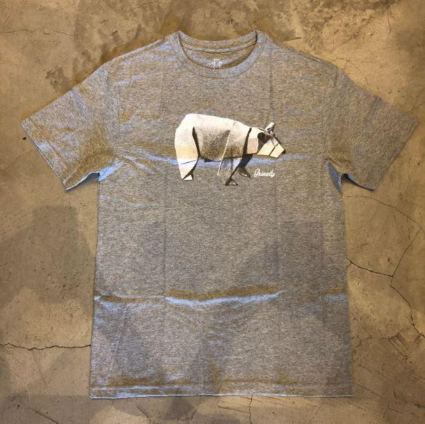 "Camiseta Grizzly ""Origami"" Cinza"