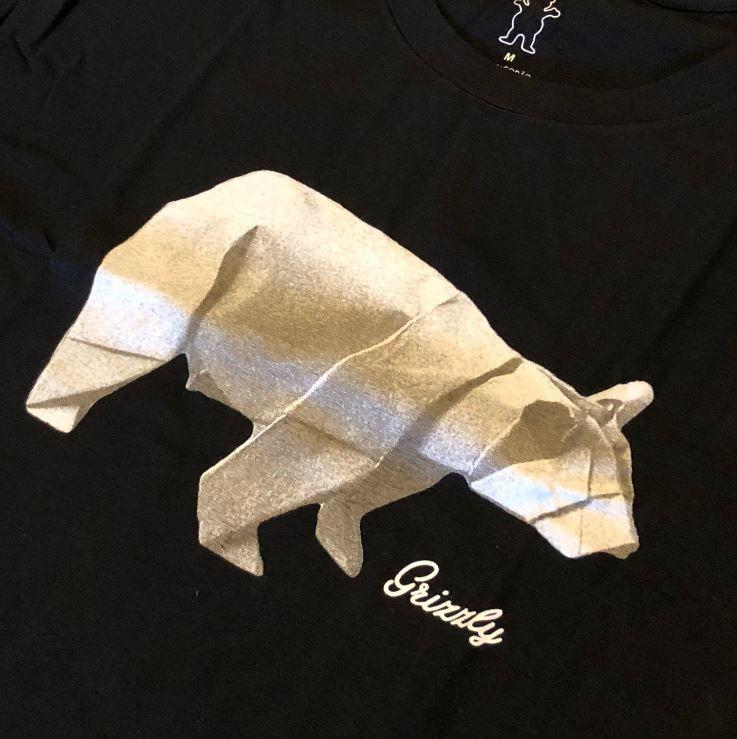 """Camiseta Grizzly """"Origami"""" Preta"""