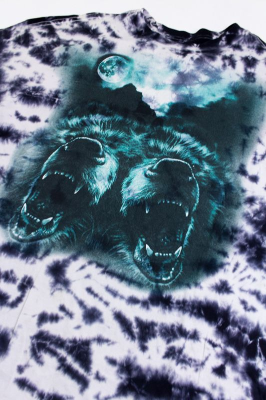 "CAMISETA GRIZZLY ""ROAR AT THE MOON TIE DYE"" PRETA ESPECIAL"