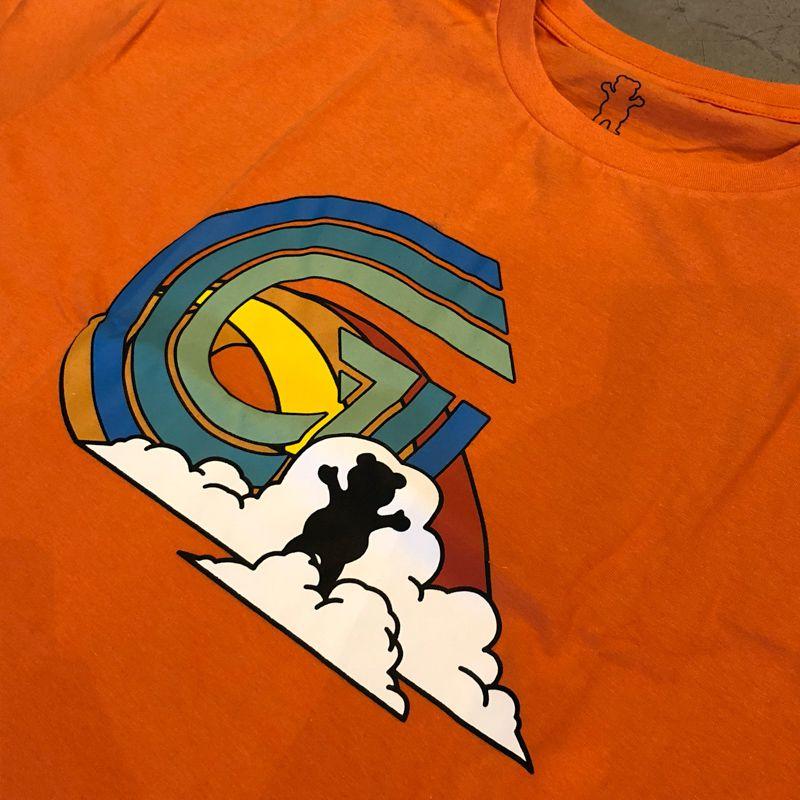 "Camiseta Grizzly ""Sky High"" Laranja"