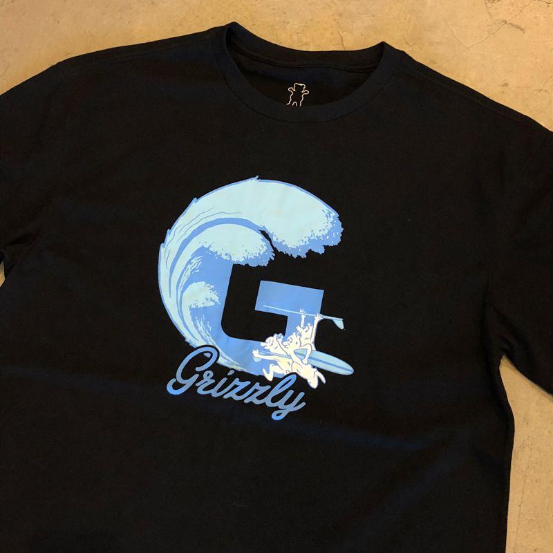 "Camiseta Grizzly ""Swells'' Preta"