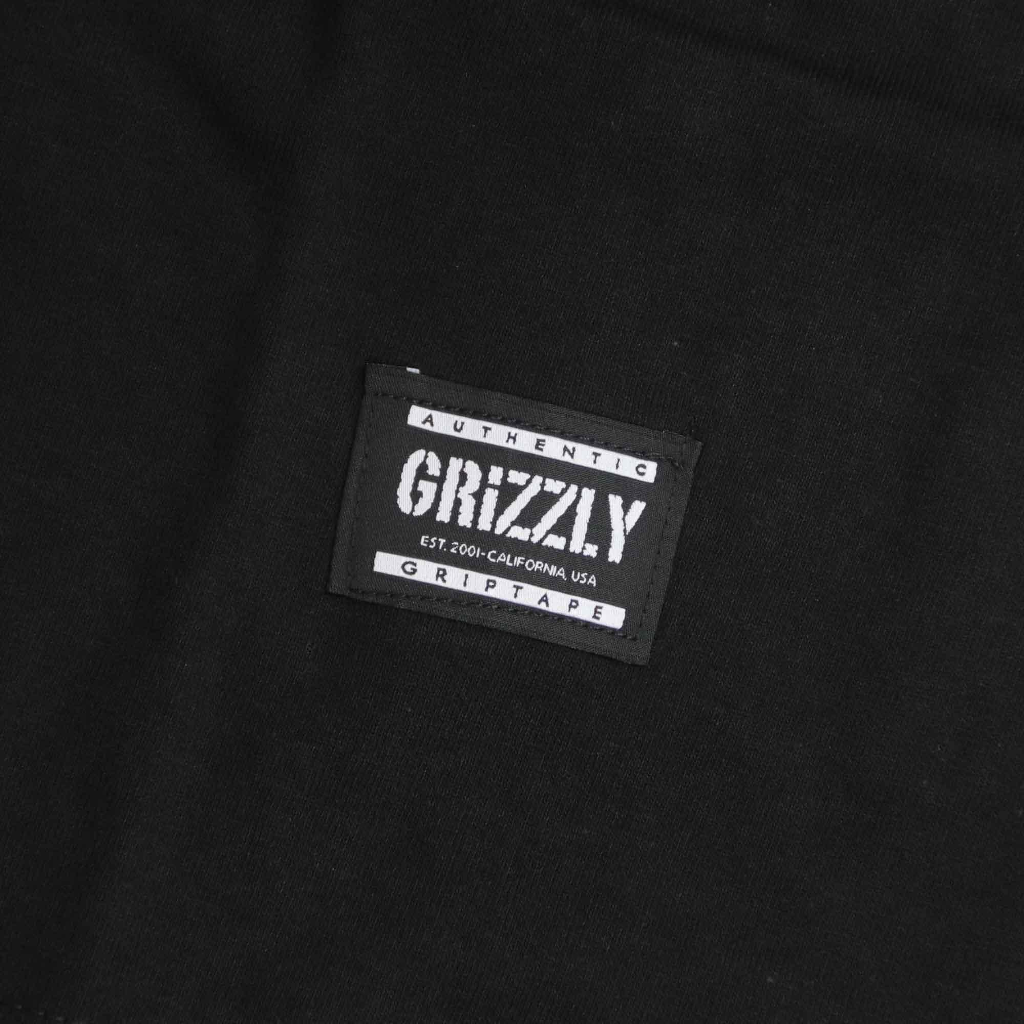 """Camiseta Grizzly """"Tagless"""" Preta"""