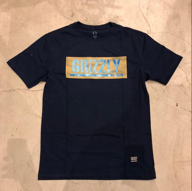 """Camiseta Grizzly """"Washed Up Azul"""" Azul Marinho"""