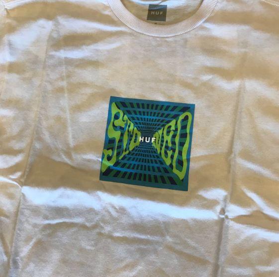 "Camiseta HUF ""Stoned"" Branca"