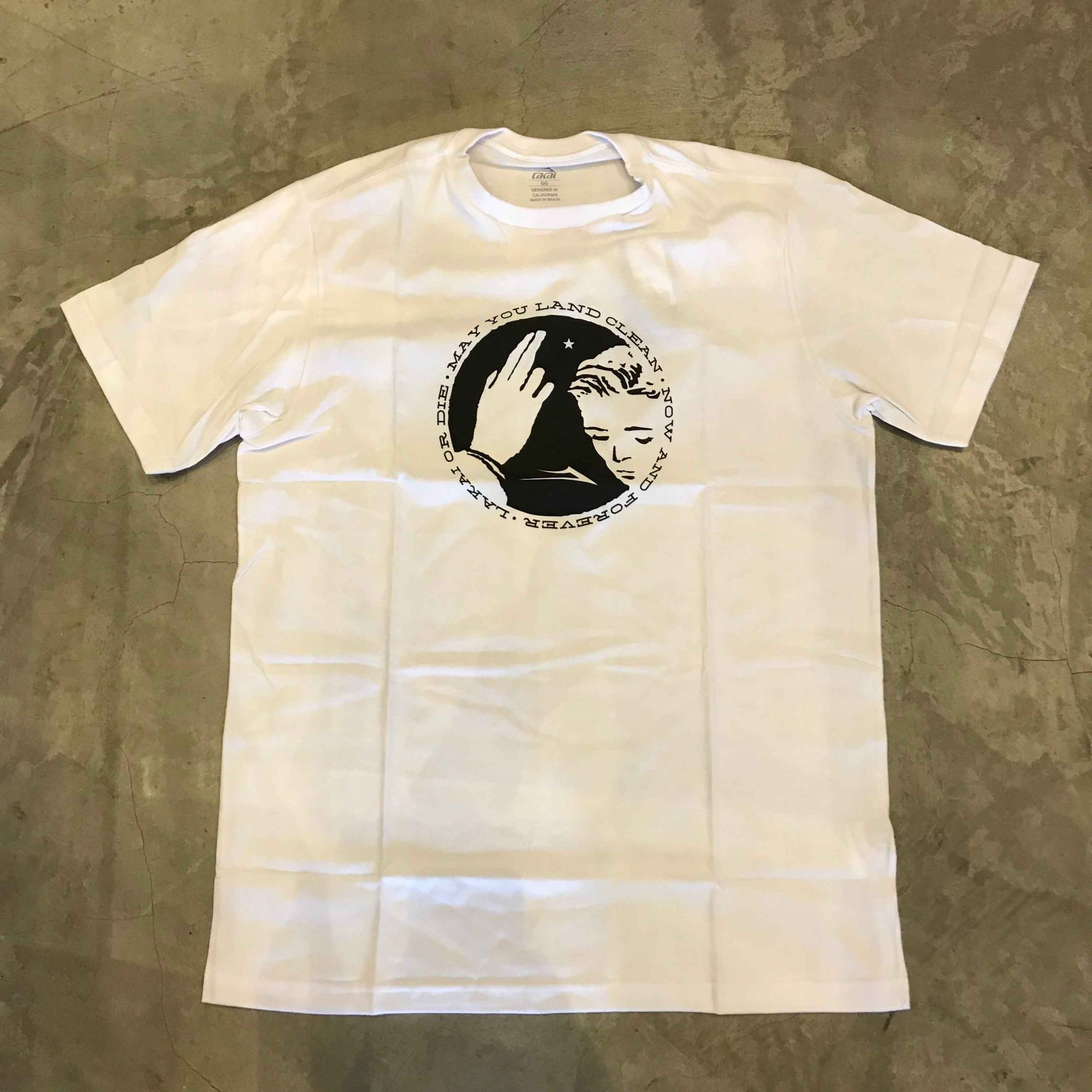 "Camiseta Lakai ""Blessing"" Branca"
