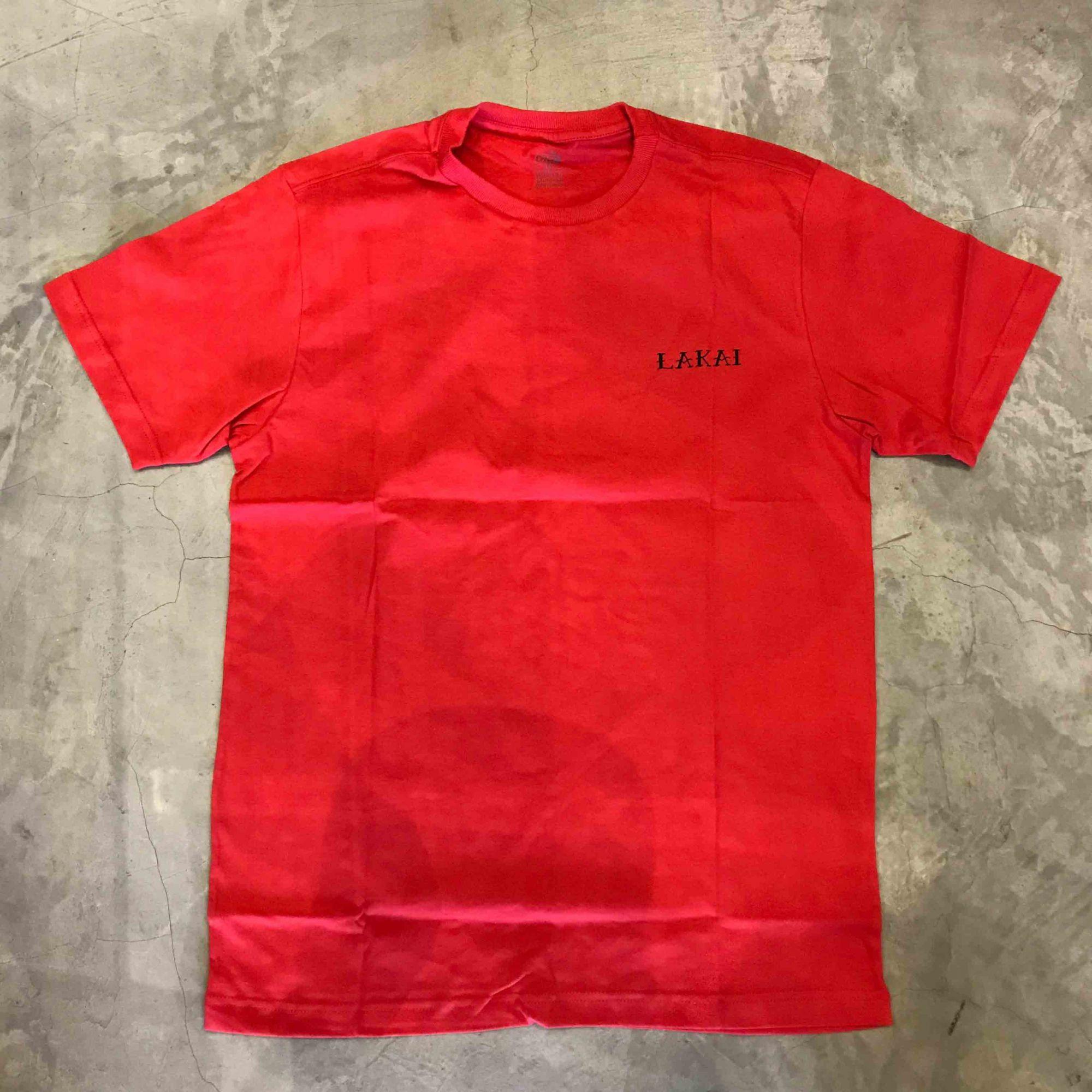 """Camiseta Lakai """"Dame"""" Vermelho"""