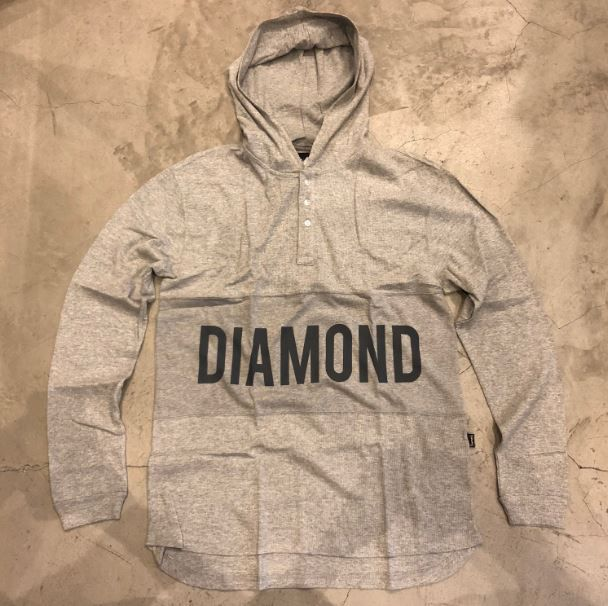 "Camiseta Diamond Manga Longa ""Winston Hooded Thermal"" Cinza"