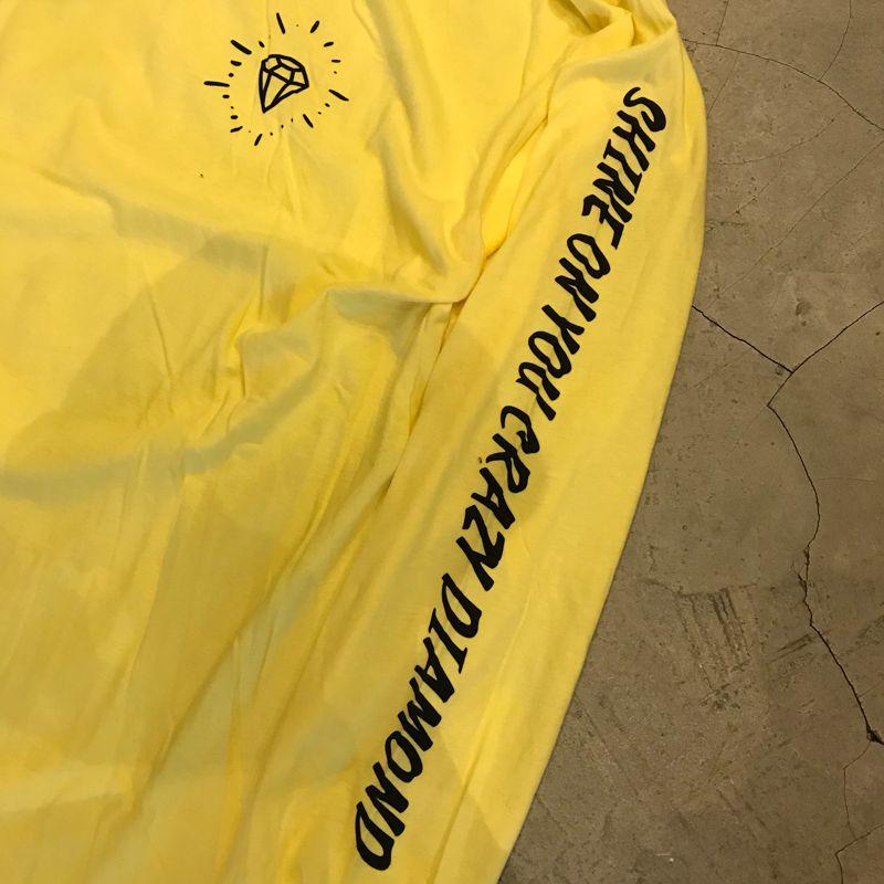"""Camiseta Manga Longa Diamond """"Shine On You Crazy"""" Amarela"""