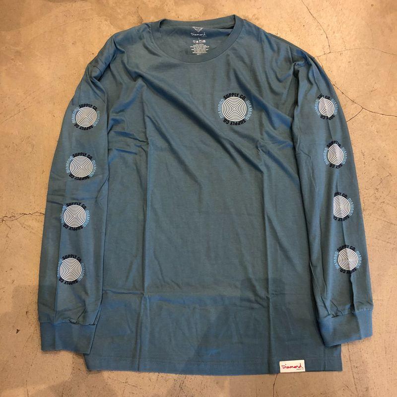 "Camiseta Manga Longa Diamond ""Spiral"" Azul"