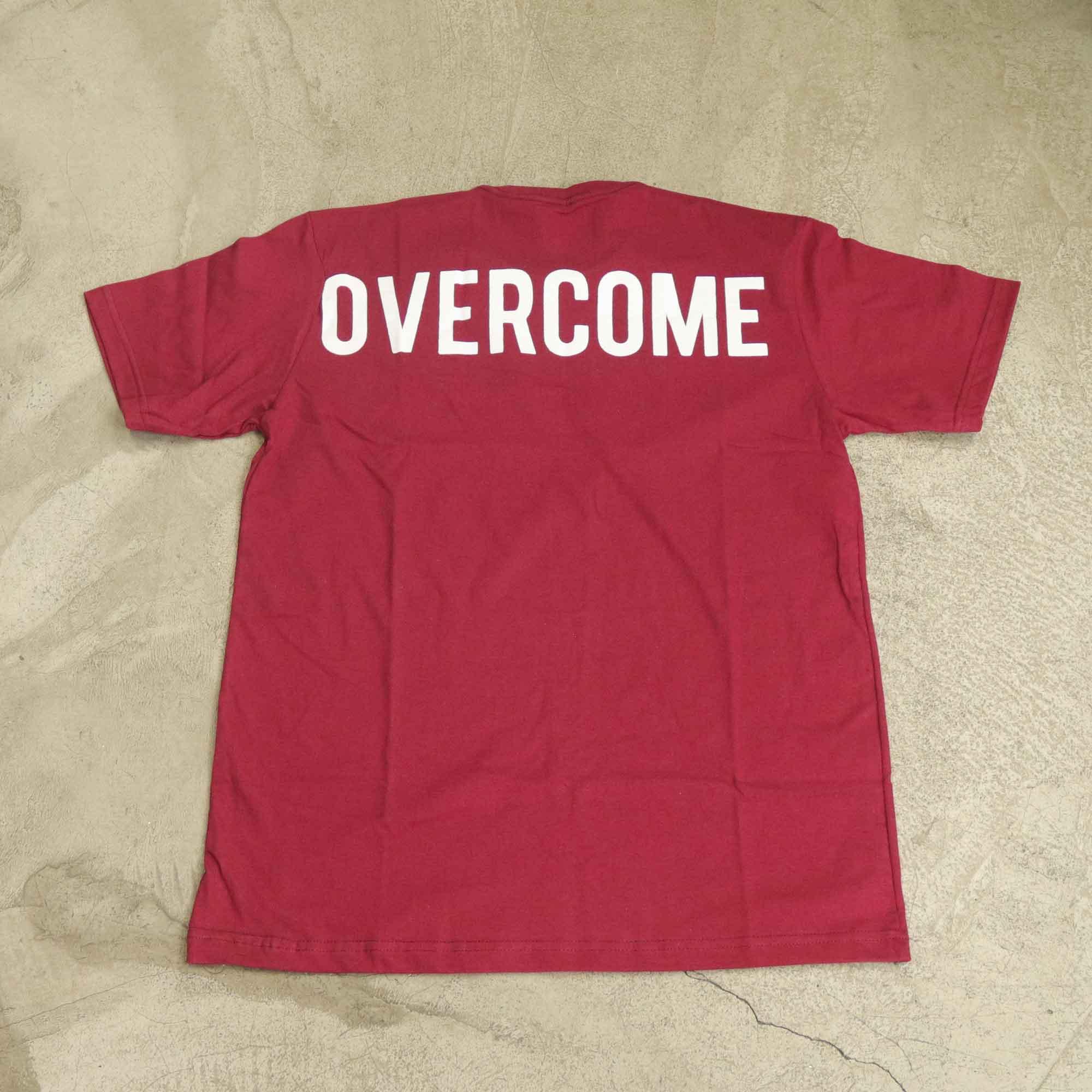 """Camiseta Overcome """"Big Script"""" Bordô"""