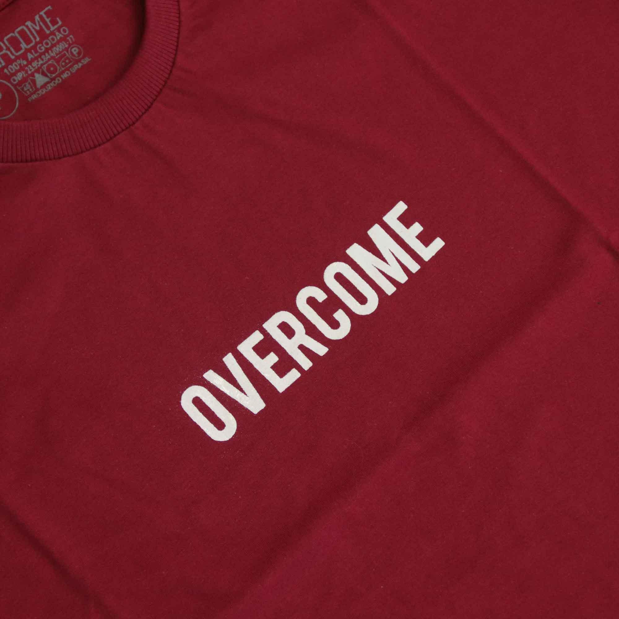 "Camiseta Overcome ""Logobox"" Bordô"