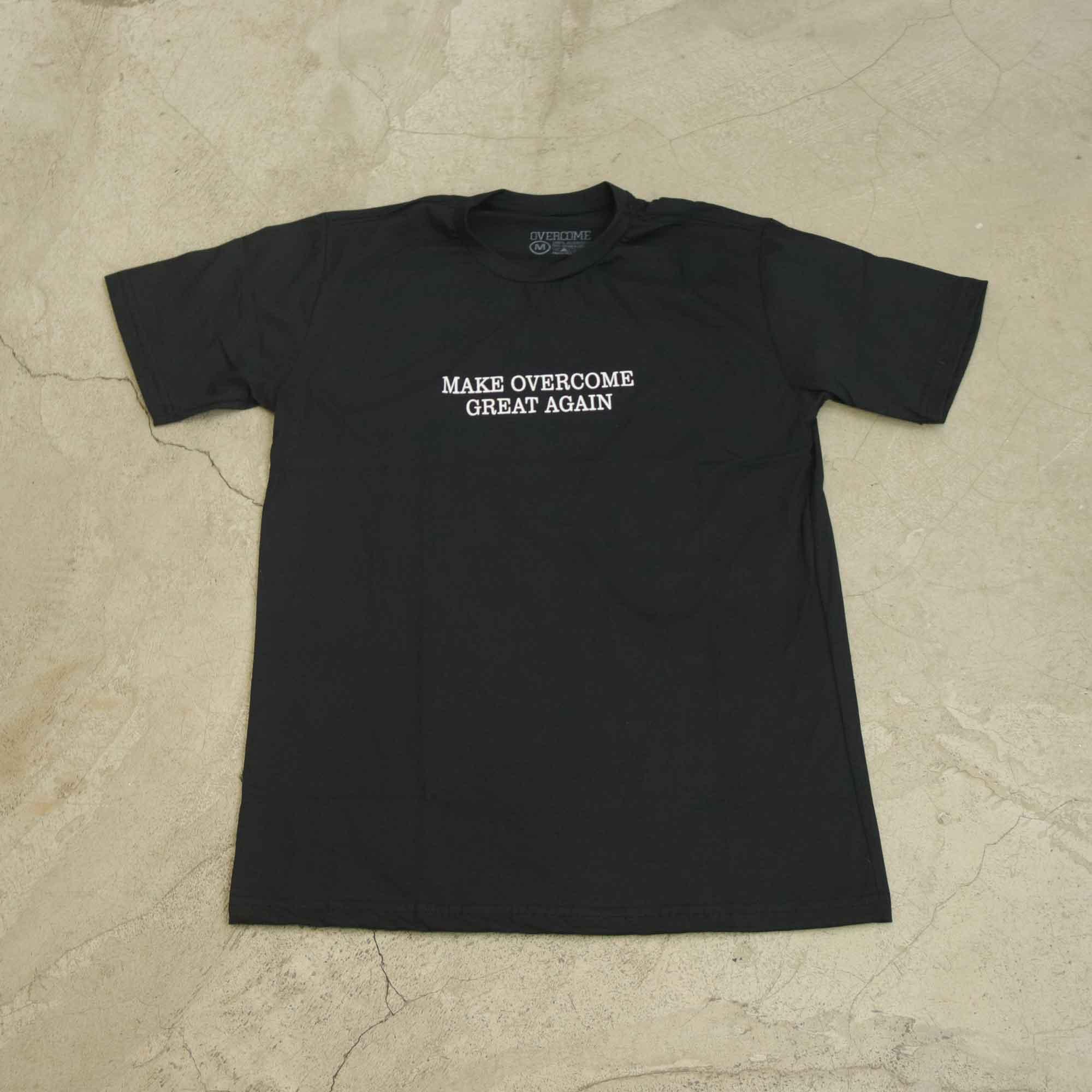"""Camiseta Overcome """"Make Overcome Great Again"""" Preta"""