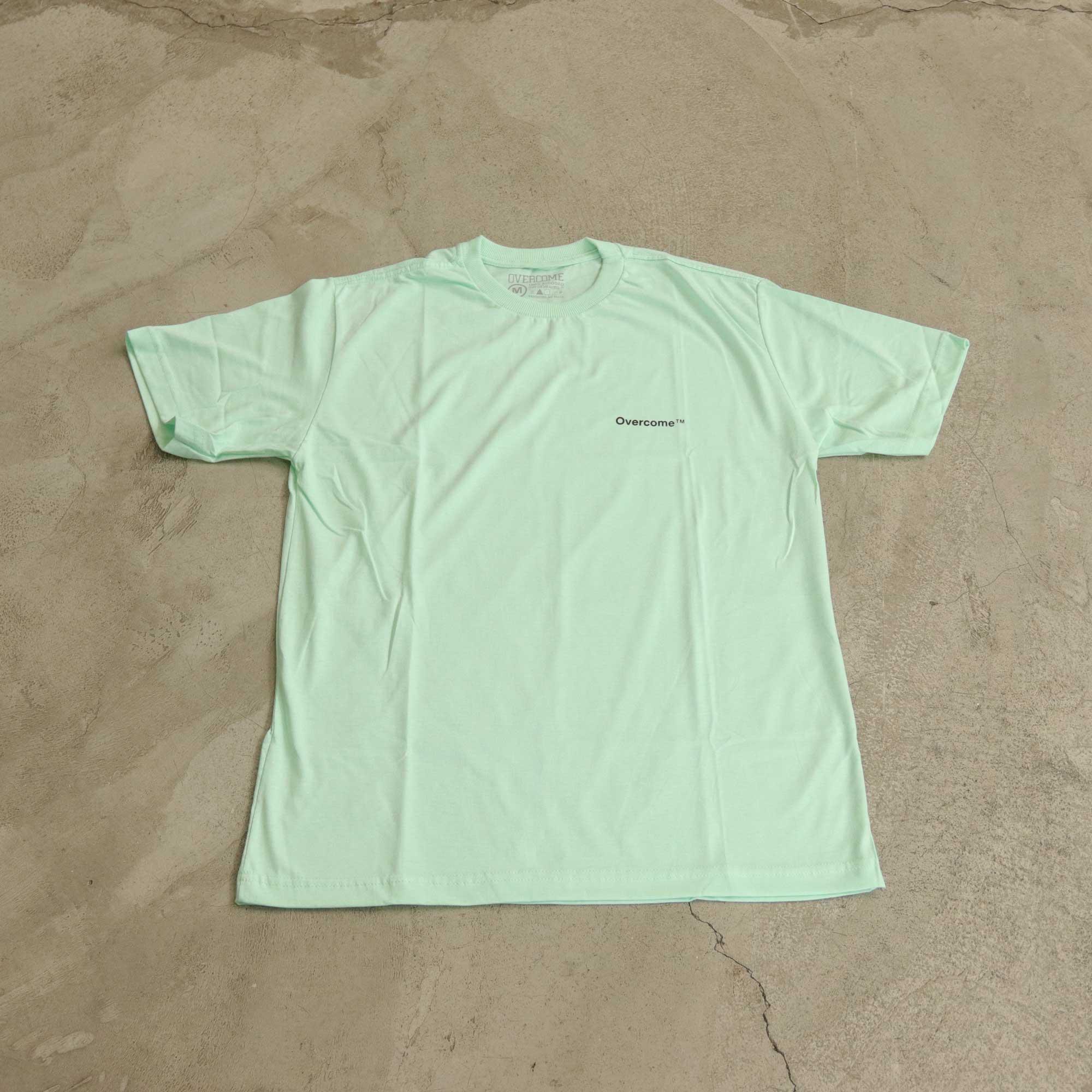 """Camiseta Overcome """"Mini Script"""" Azul Tiffany"""