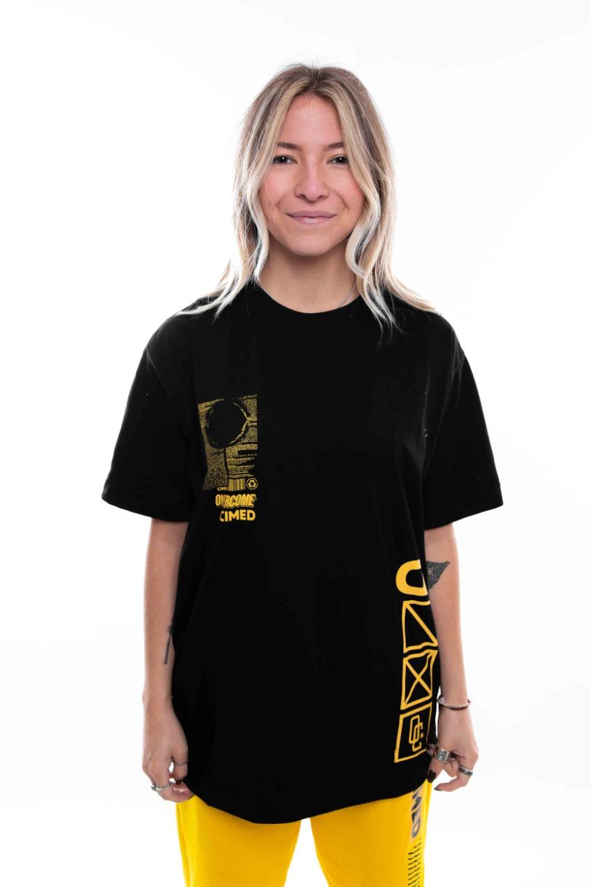 Camiseta Overcome x Cimed Cure Preto