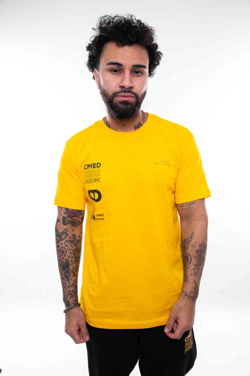 Camiseta Overcome x Cimed Prescription Amarelo