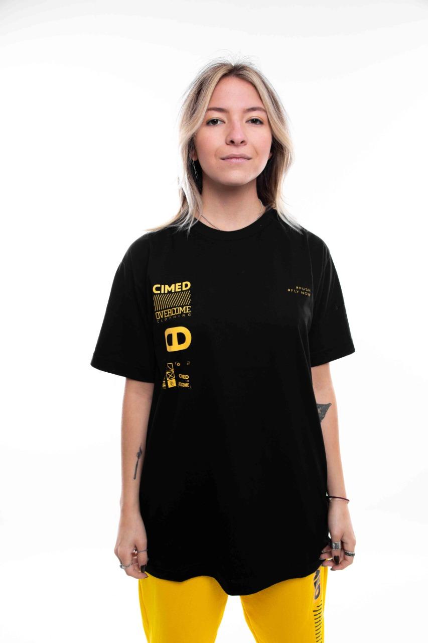 Camiseta Overcome x Cimed Prescription Preto