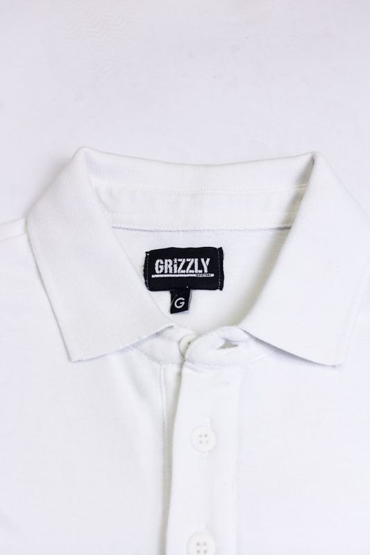 "CAMISETA POLO GRIZZLY ""MATCH POINT"" BRANCA"