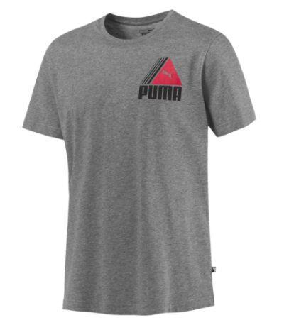"Camiseta Puma ""Tri Retro"" Cinza Mescla"