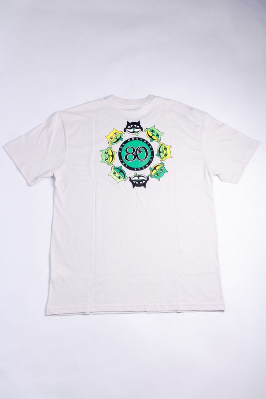 "CAMISETA THE HUNDREDS ""NINTH LIFE"" CREME"