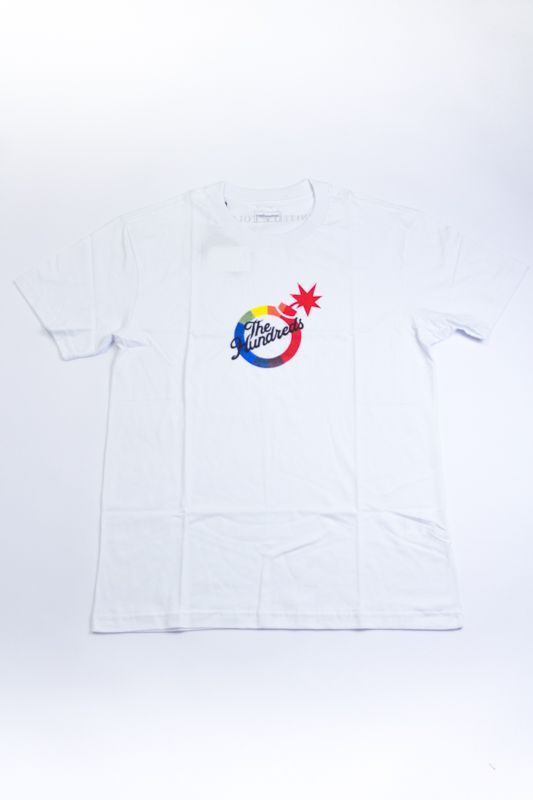 """CAMISETA THE HUNDREDS """"UNITED BY COLOR"""" BRANCA"""