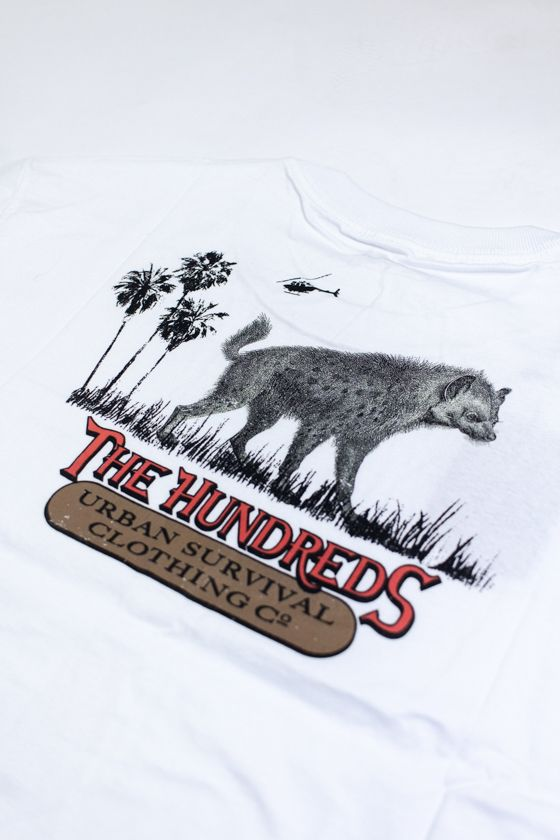 "CAMISETA THE HUNDREDS ""URBAN SAFARI POCKET"" BRANCA"