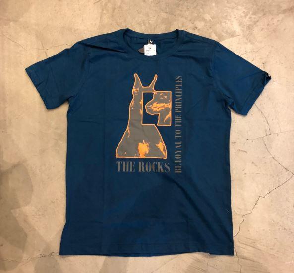 """Camiseta The Rocks """"BE LOYAL TO THE PRINCIPLES BIG LOGO"""" Azul"""