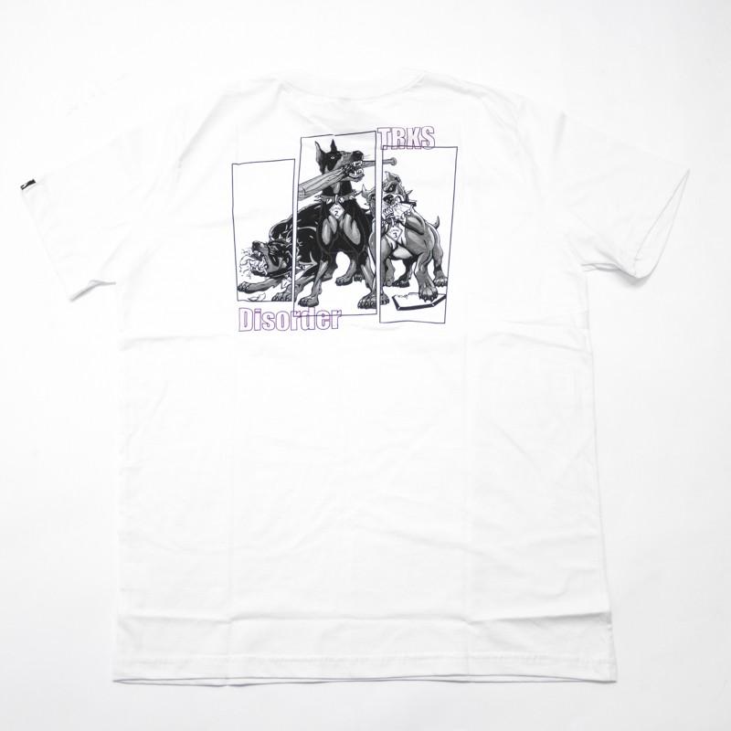 "Camiseta The Rocks ""Disorder"" Branca"