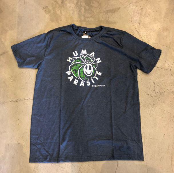"""Camiseta The Rocks """"Human Parasite"""" Azul"""