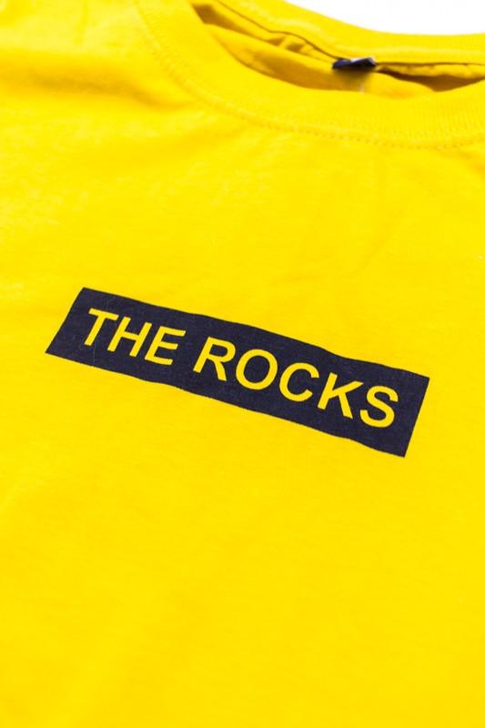 "Camiseta The Rocks ""Logo Box Lunar"" Amarela"