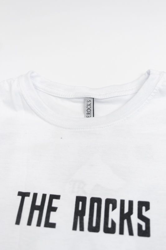 "CAMISETA THE ROCKS ""LOGO"" BRANCA"