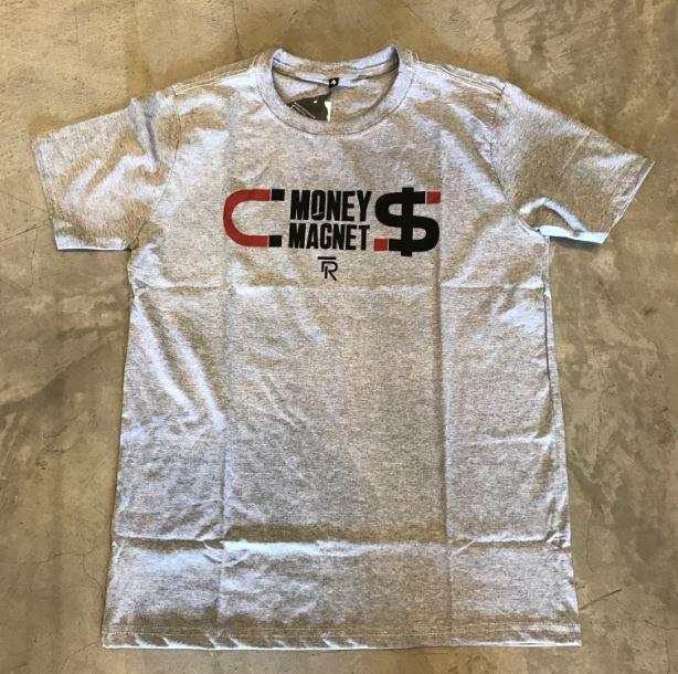 "Camiseta The Rocks ""Money Magnet"" Cinza"