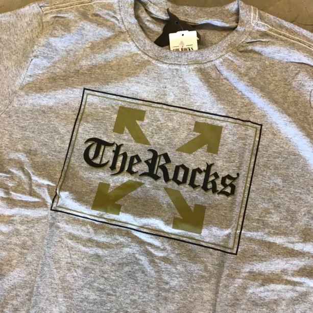 "Camiseta The Rocks ""OFF 3"" Cinza"