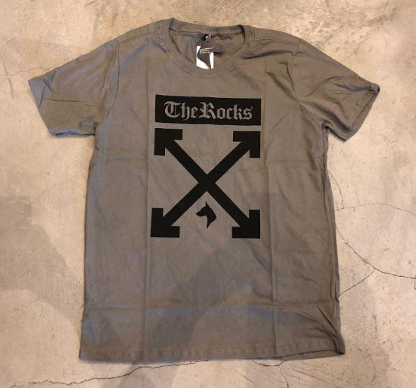 "Camiseta The Rocks ""OFF"" Cinza"