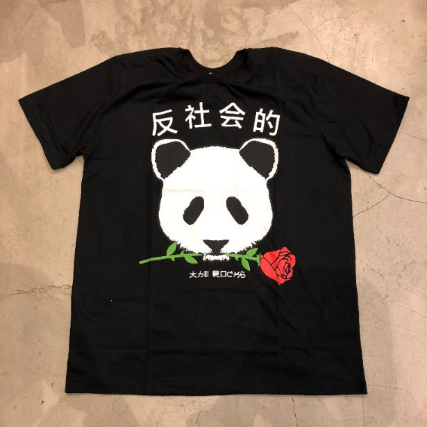 "Camiseta The Rocks ""Panda"" Preta"