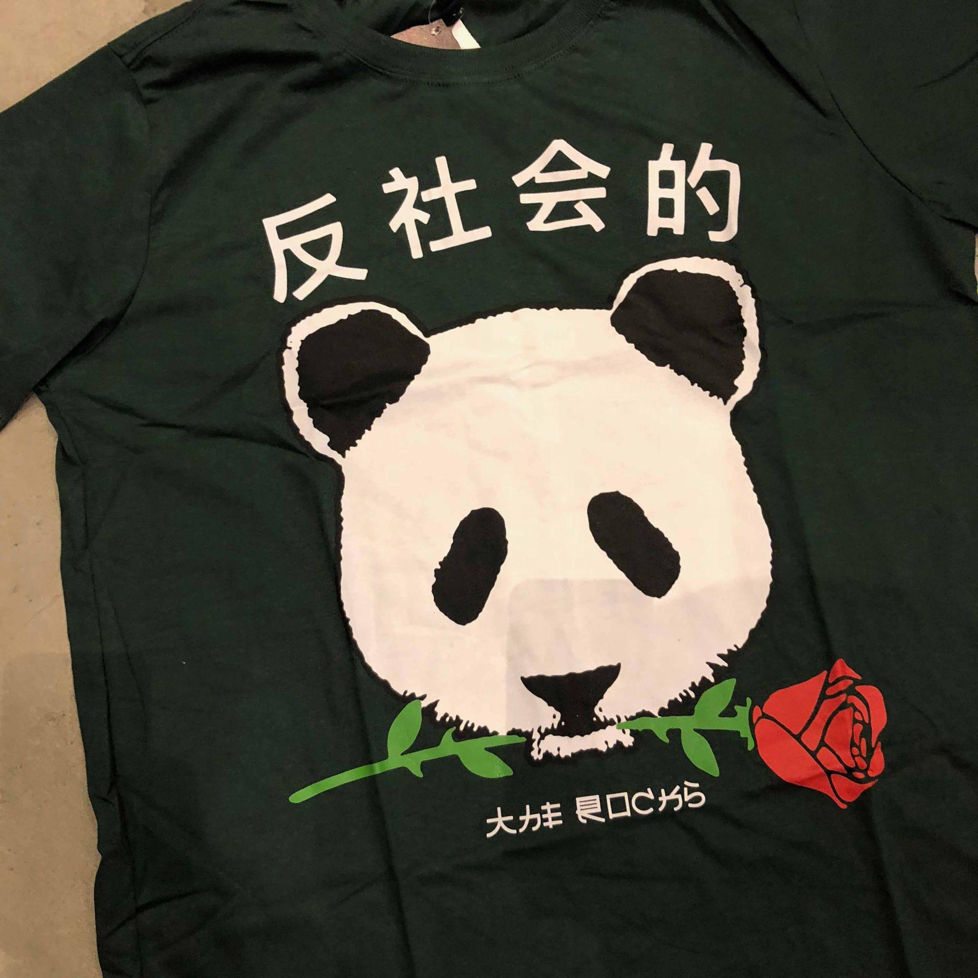 """Camiseta The Rocks """"Panda"""" Verde Escuro"""