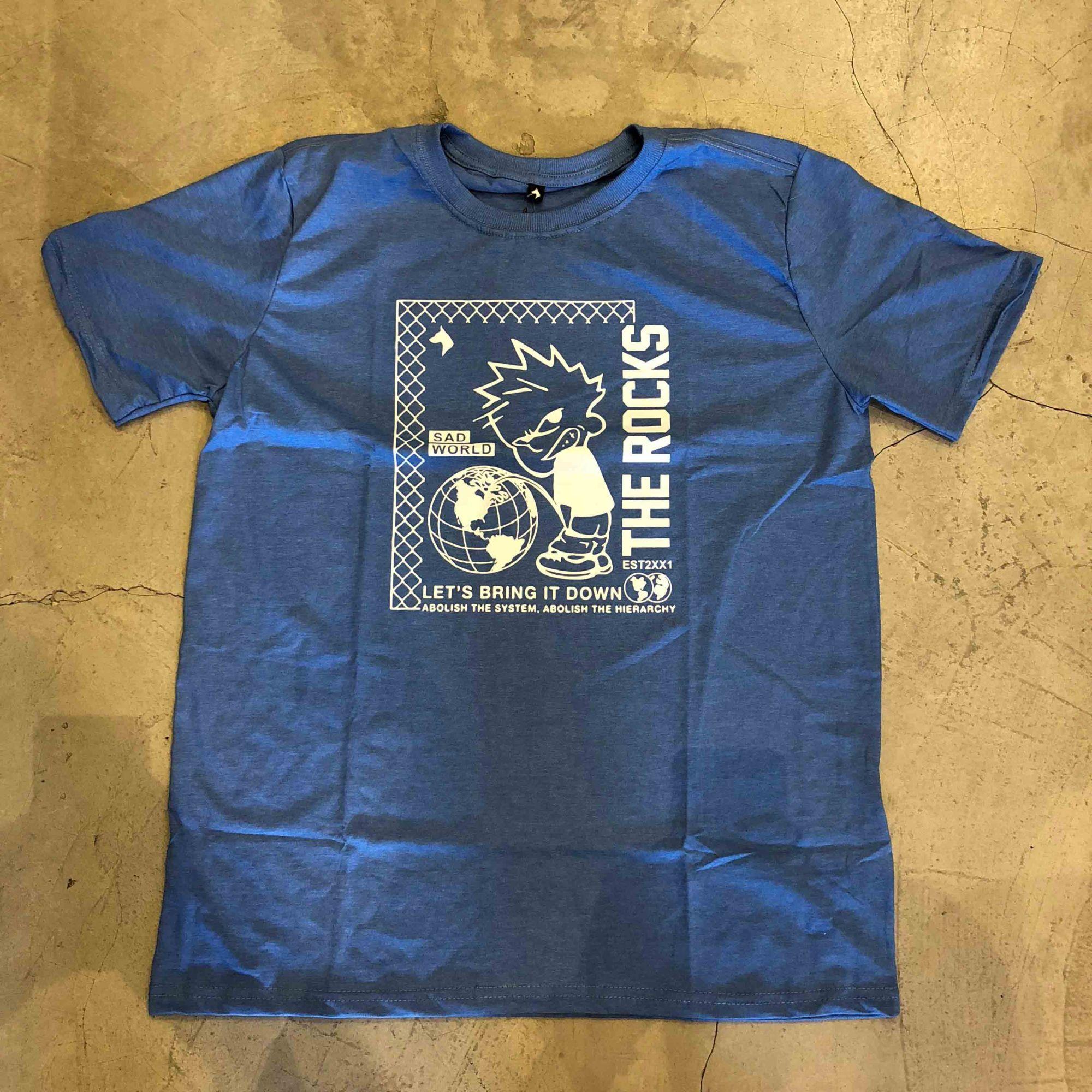 "Camiseta The Rocks ""Sad World"" Azul"
