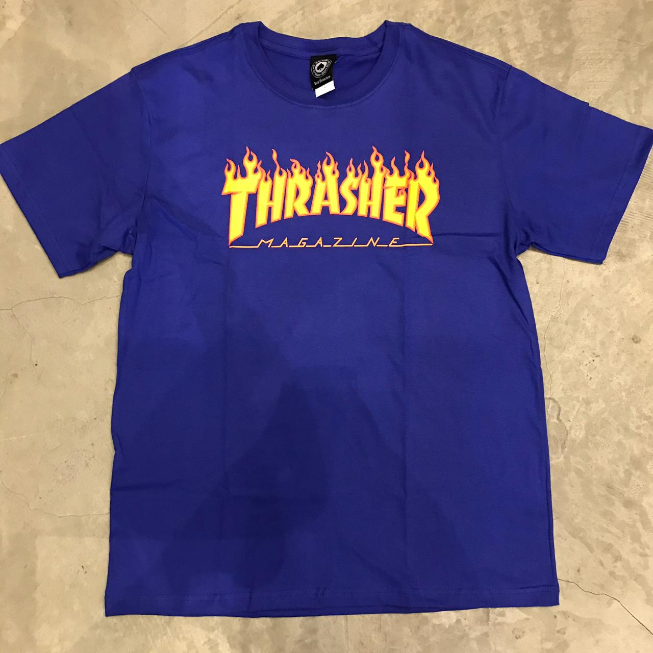 "Camiseta Thrasher ""Flame"" Azul"