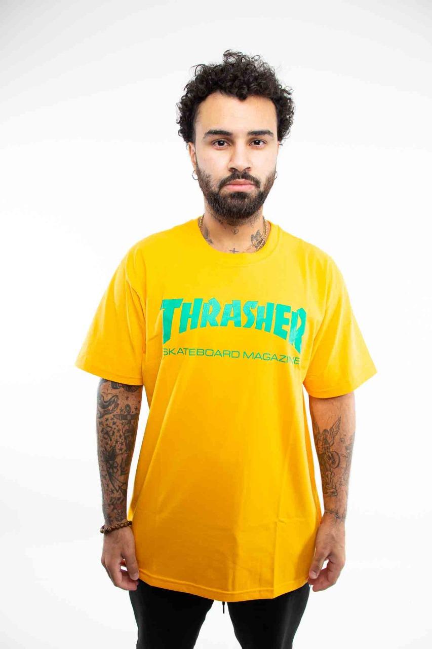 Camiseta Thrasher Logo Amarelo/Verde