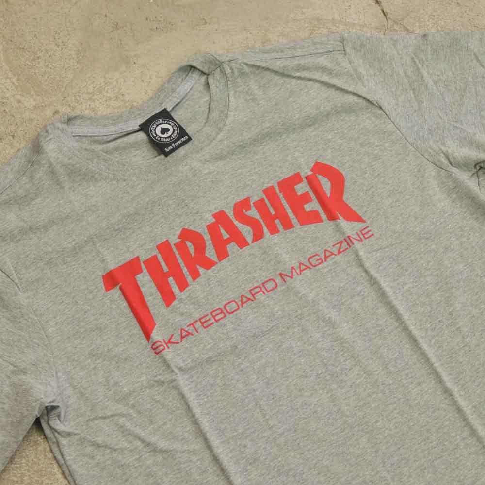 """Camiseta Thrasher """"Logo"""" Cinza"""