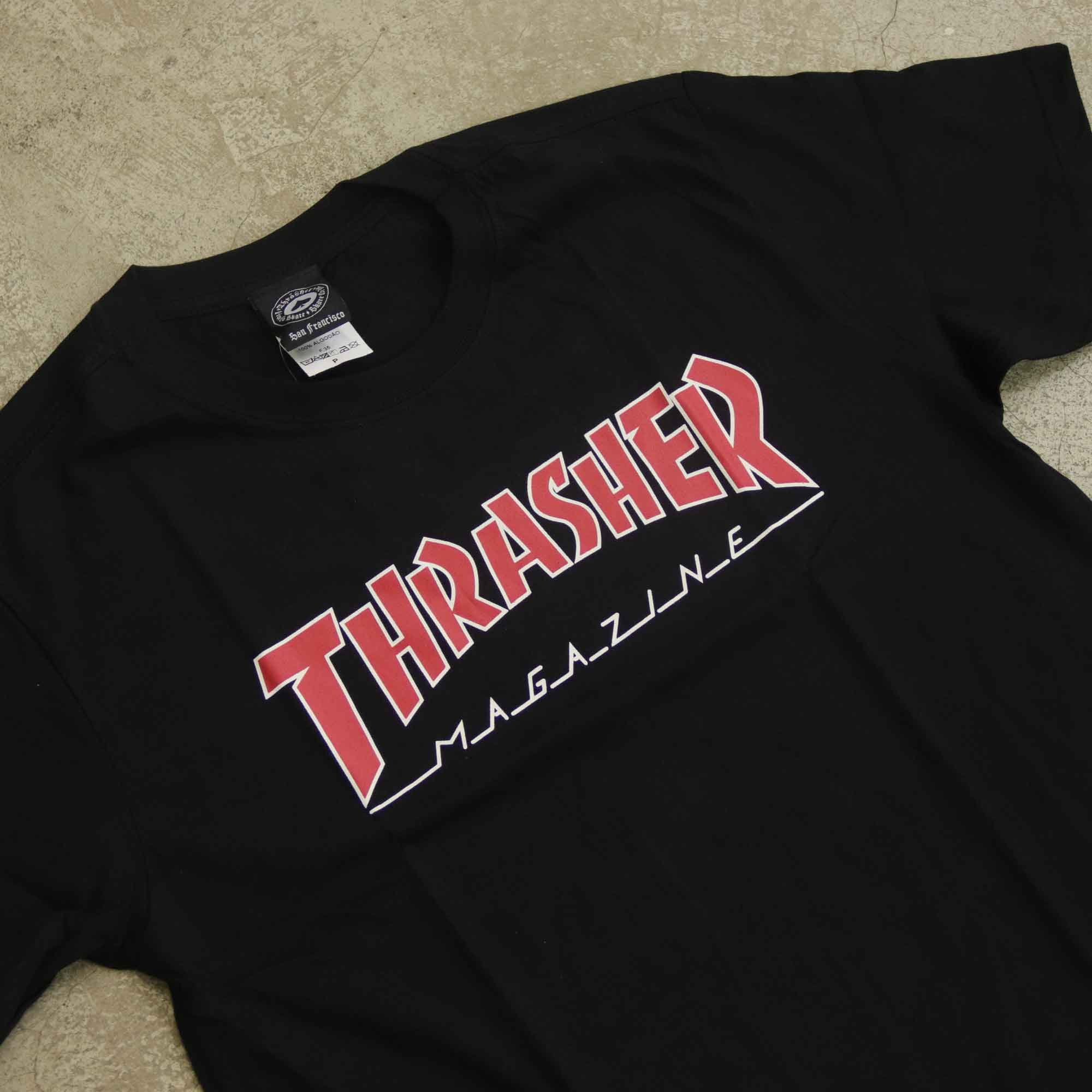 "Camiseta Thrasher ""Logo"" Preta/Vermelha"