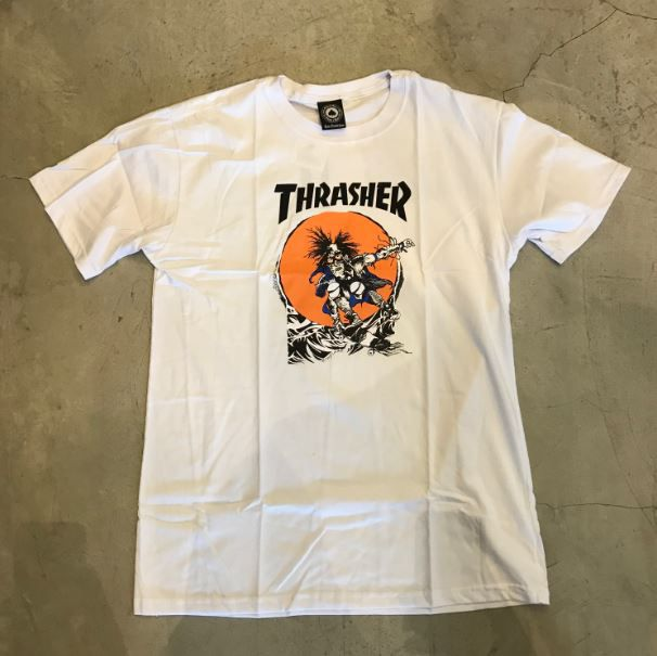 "Camiseta Thrasher ""Pushead"" Branca"