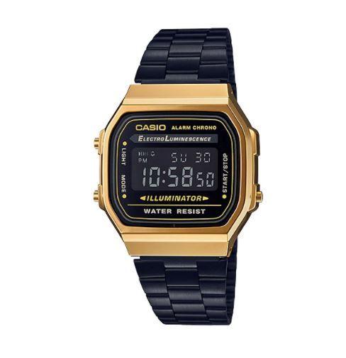 Relógio Casio A168WEGB-1B BLACK/GOLD
