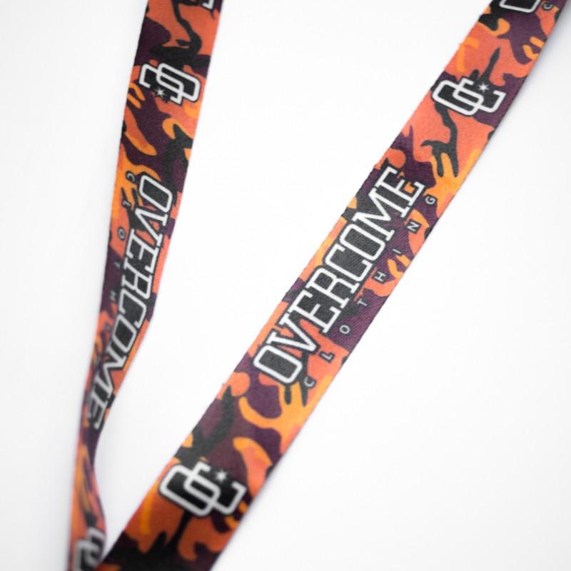 "Chaveiro Overcome ""Logo"" Orange Camo"