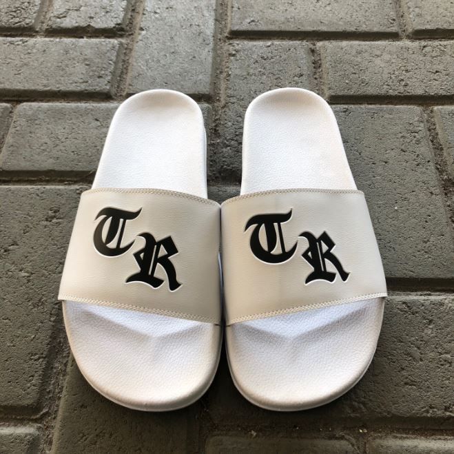"Chinelo Slide The Rocks ""TR"" Branco"