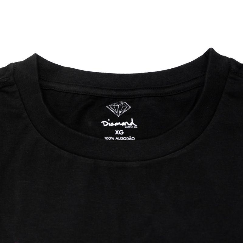 "Camiseta Diamond ""Neon OG Script"" Preta"