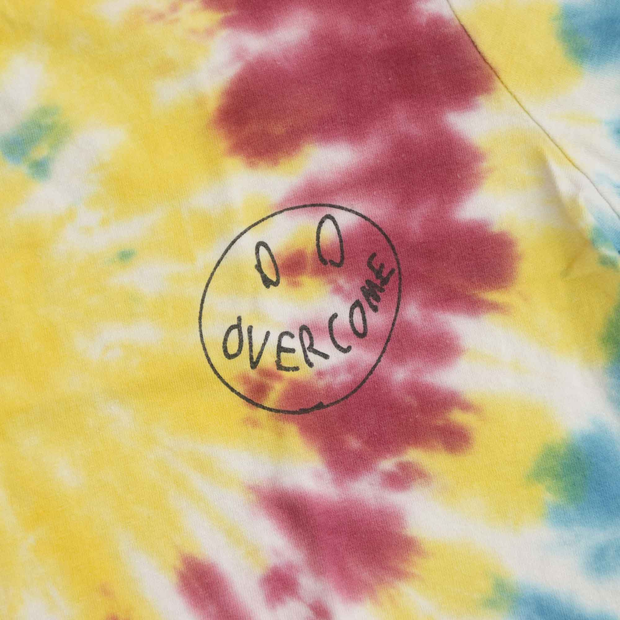 """Cropped Overcome  """"Smile For Haters"""" Tie Dye (Azul/Amarelo/Roxo)"""