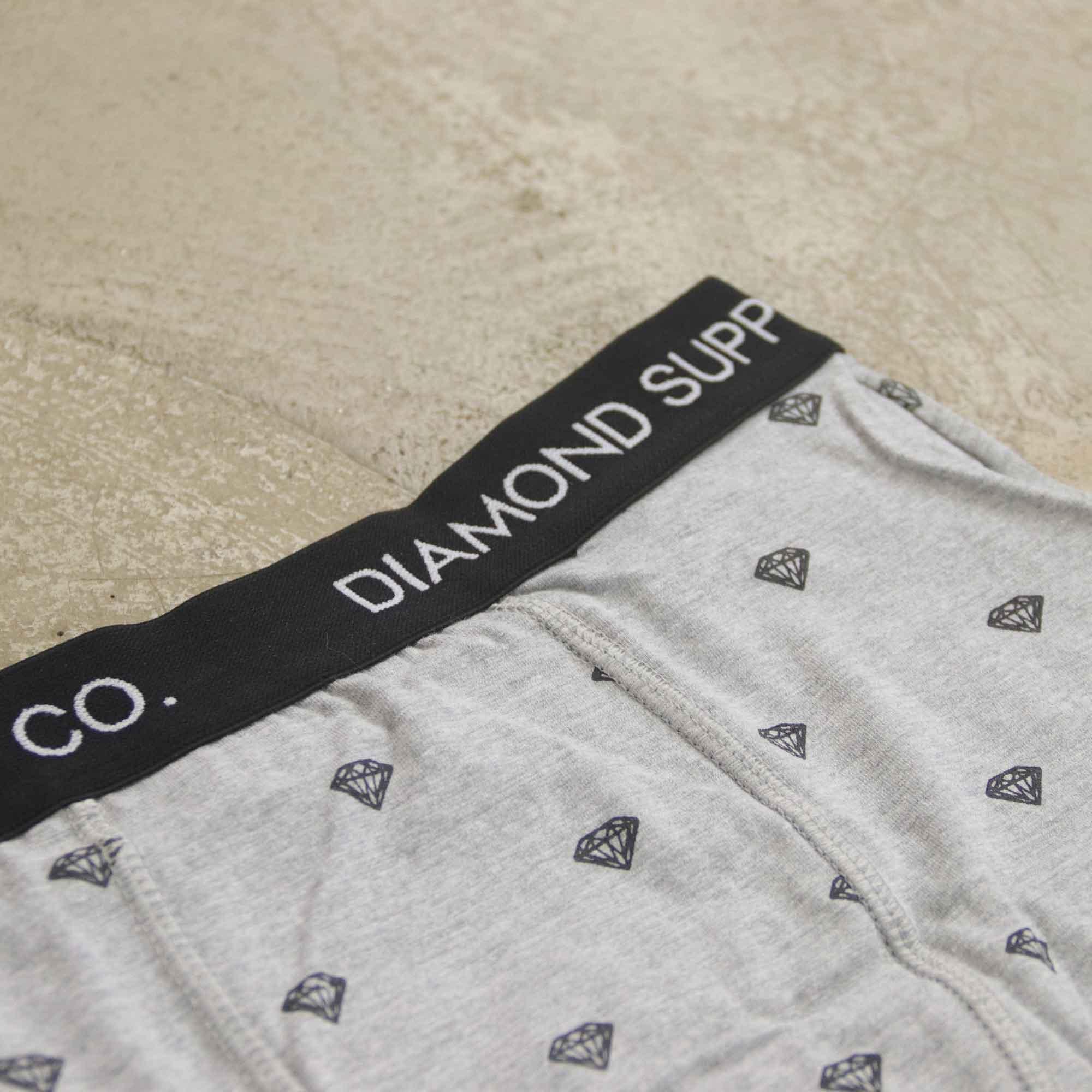 "Cueca Boxer Diamond ""Brilliant Briefs"" Cinza"