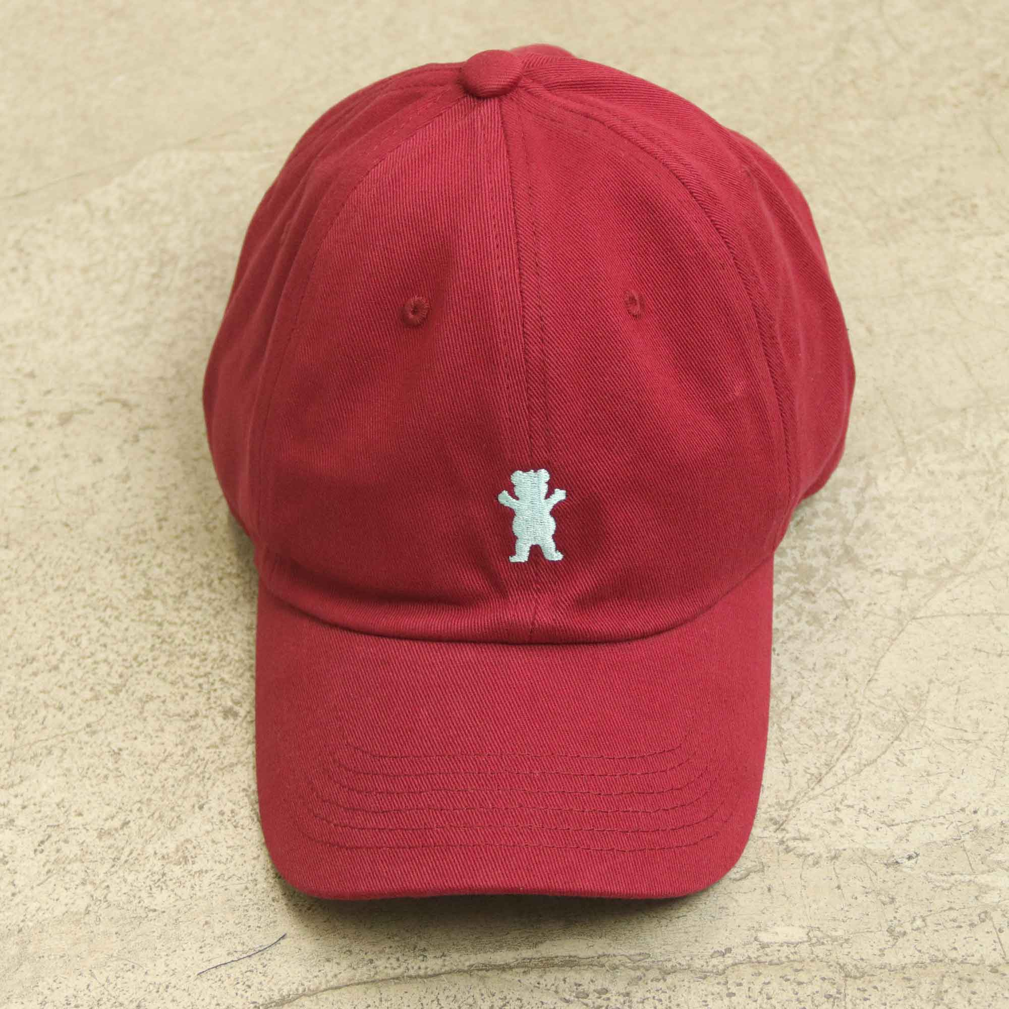 "Dad Hat Grizzly ""Og Bear"" Bordô"